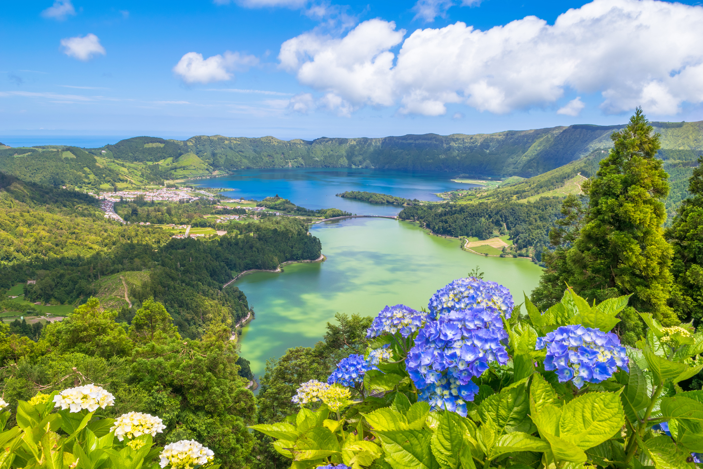 Beautiful View of Seven Cities Lake 'Lagoa das Sete Cidades'