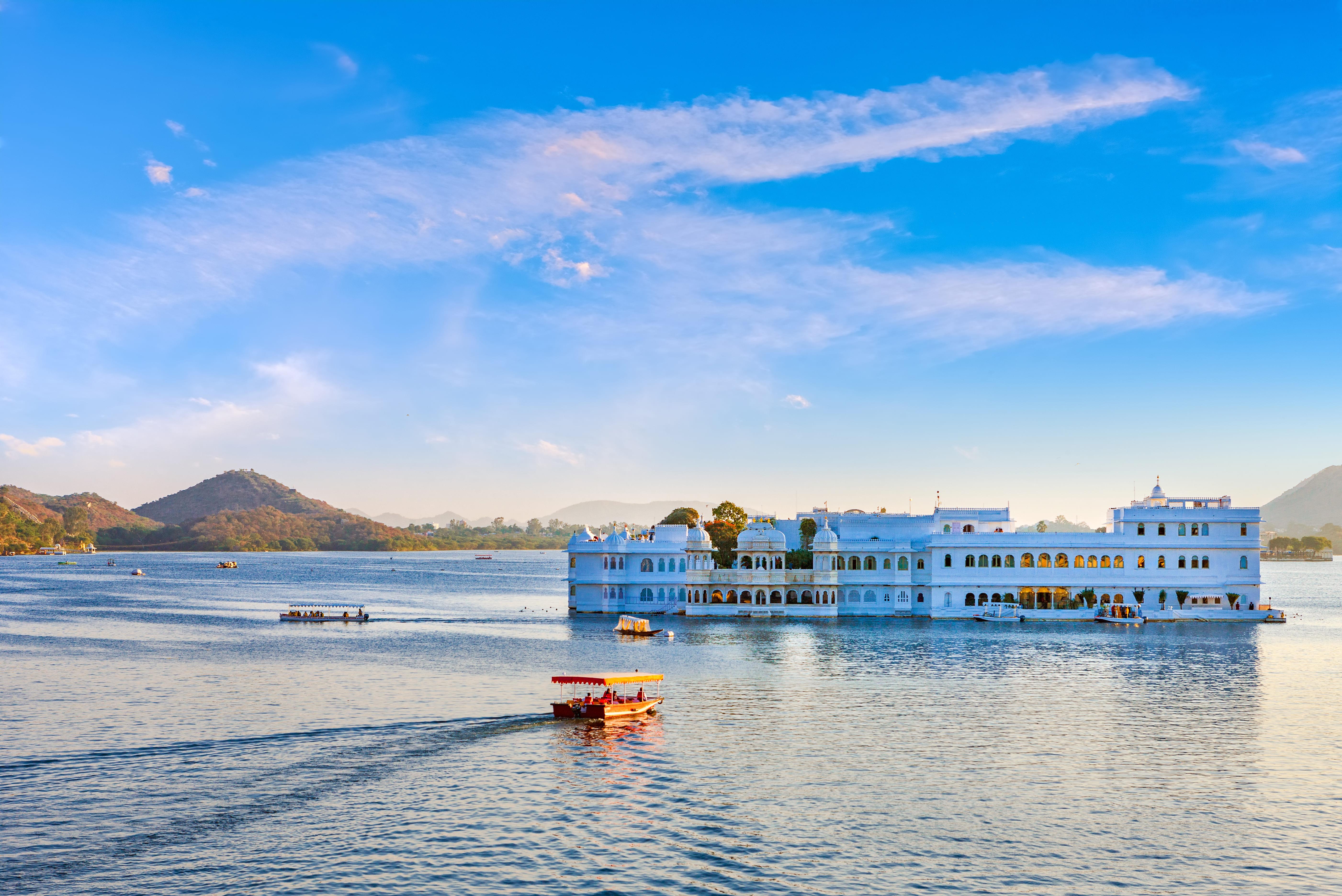 Taj Lake Palace on lake Pichola in Udaipur